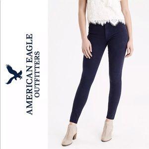 American Eagle Skinny Low Rise Jeans Dark Blue 4R